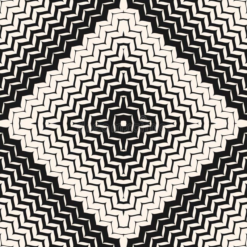 Teste padrão sem emenda de intervalo mínimo do vetor Linhas diagonais do ziguezague, listras ilustração royalty free