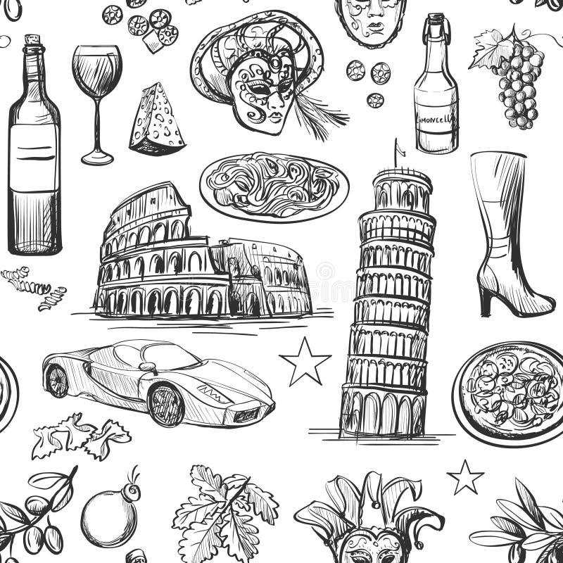 Teste padrão sem emenda de Itália ilustração stock