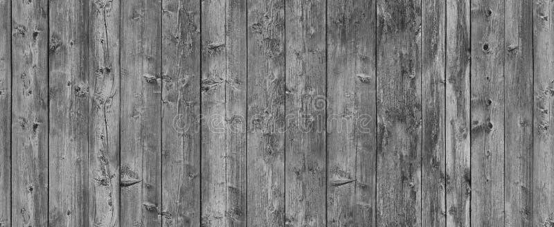 Teste padrão sem emenda de madeira cinzento rústico velho fotografia de stock royalty free