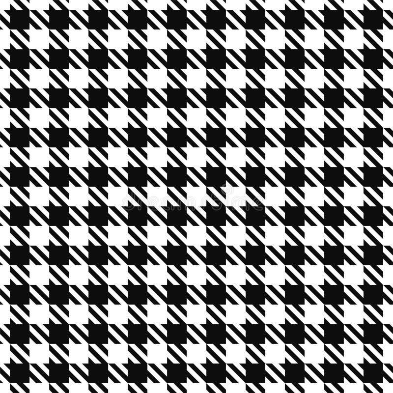 Teste padrão sem emenda de matéria têxtil - projeto de pano Vector o fundo geométrico Textura preto e branco ilustração do vetor
