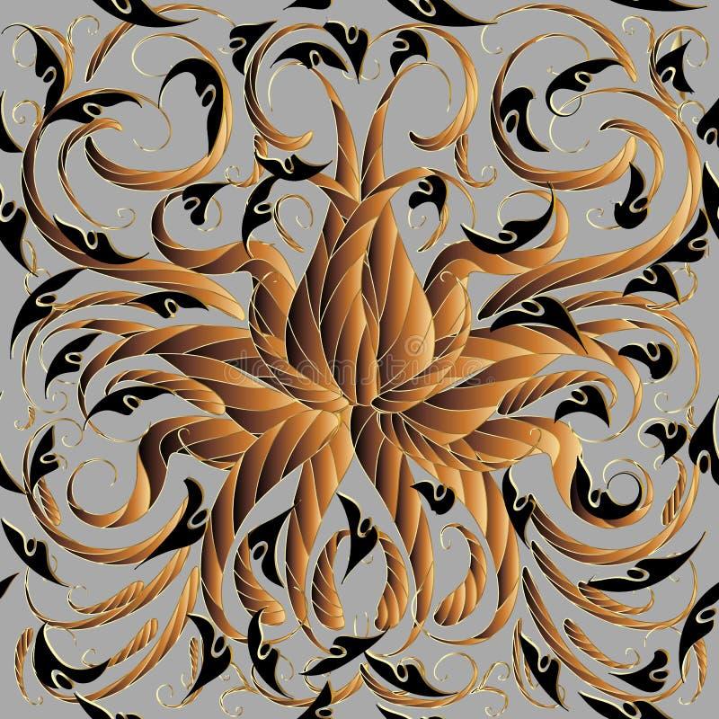 Teste padrão sem emenda de paisley do vetor floral abstrato Ornamen do vintage ilustração do vetor