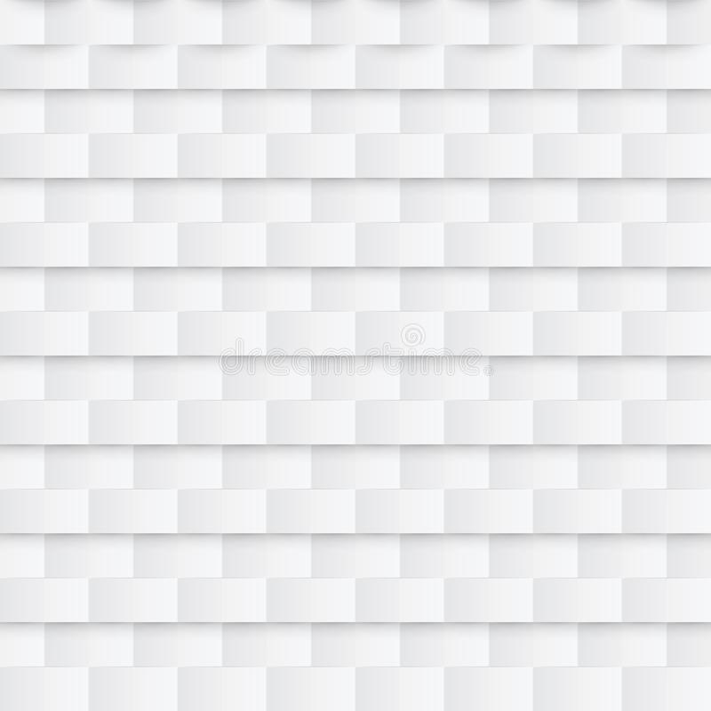 Teste padrão sem emenda de papel abstrato Fundo geométrico branco ilustração do vetor