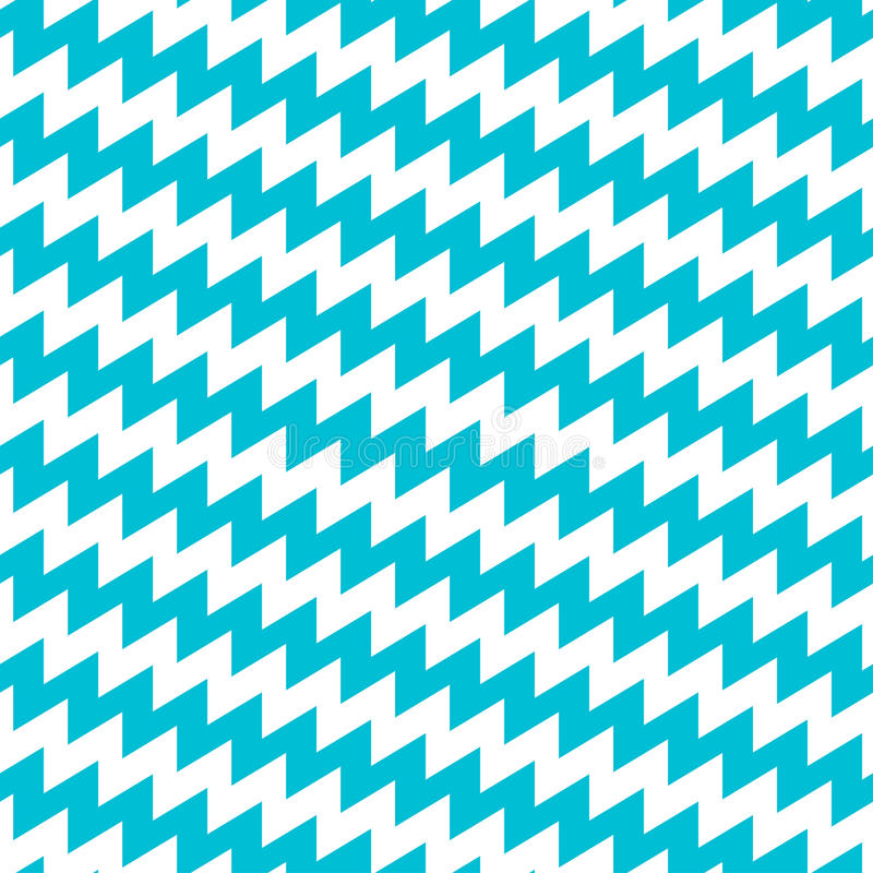 Teste padrão sem emenda de turquesa e da viga diagonal branca ilustração do vetor
