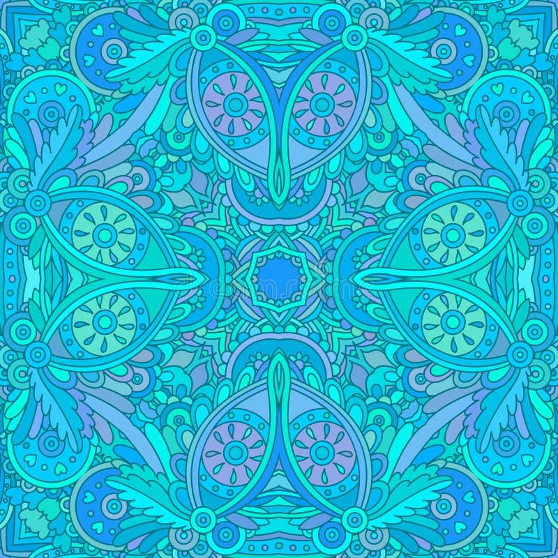 Teste padrão sem emenda decorativo azul ilustração royalty free