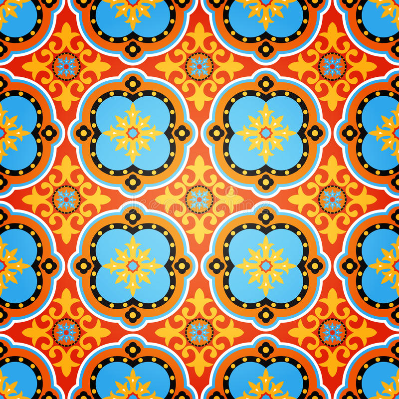 Teste padrão sem emenda decorativo colorido ilustração stock