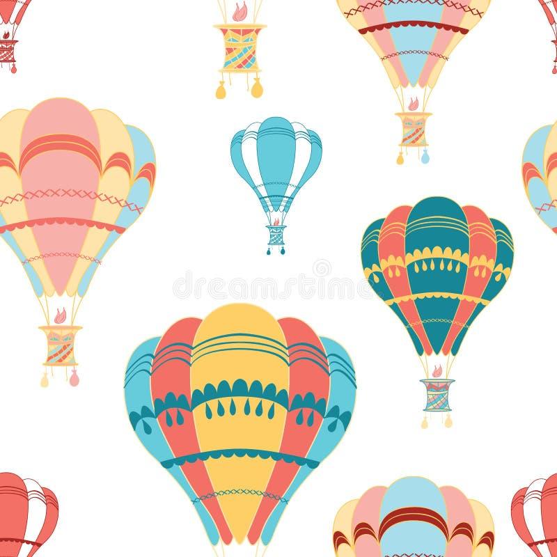 Teste padrão sem emenda decorativo do balão de ar ilustração stock