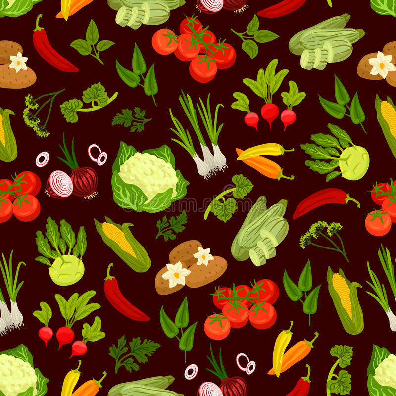 Teste padrão sem emenda decorativo dos vegetais ilustração stock