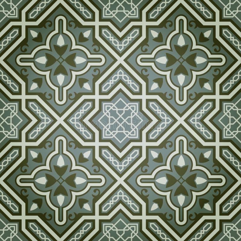 Teste padrão sem emenda decorativo geométrico da pintura de petróleo ilustração do vetor