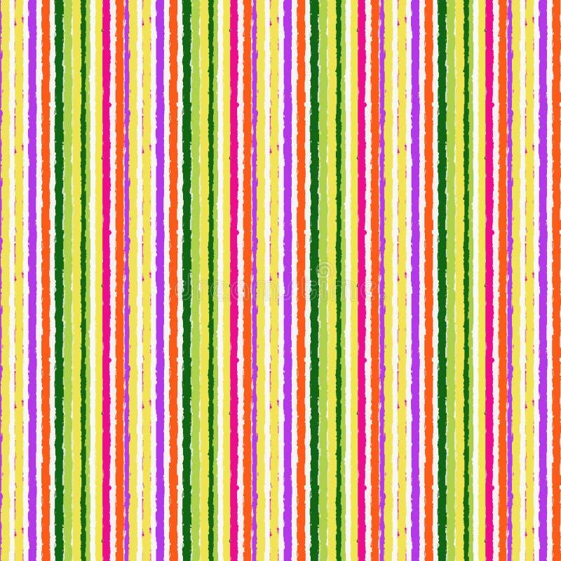 Teste padrão sem emenda desenhado à mão colorido das listras verticais ilustração royalty free