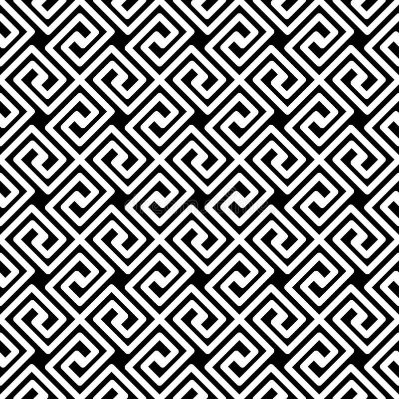 Teste padrão sem emenda diagonal chave grego ilustração do vetor
