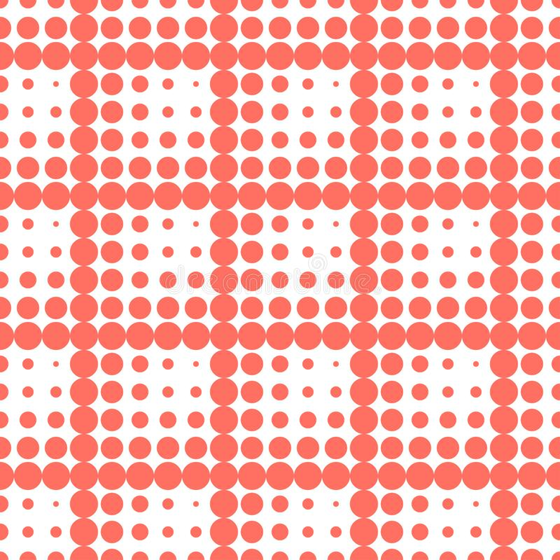 Teste padrão sem emenda do às bolinhas Figuras de grandes e bolas pequenas Fundo geométrico Pontos, círculos e botões ilustração do vetor