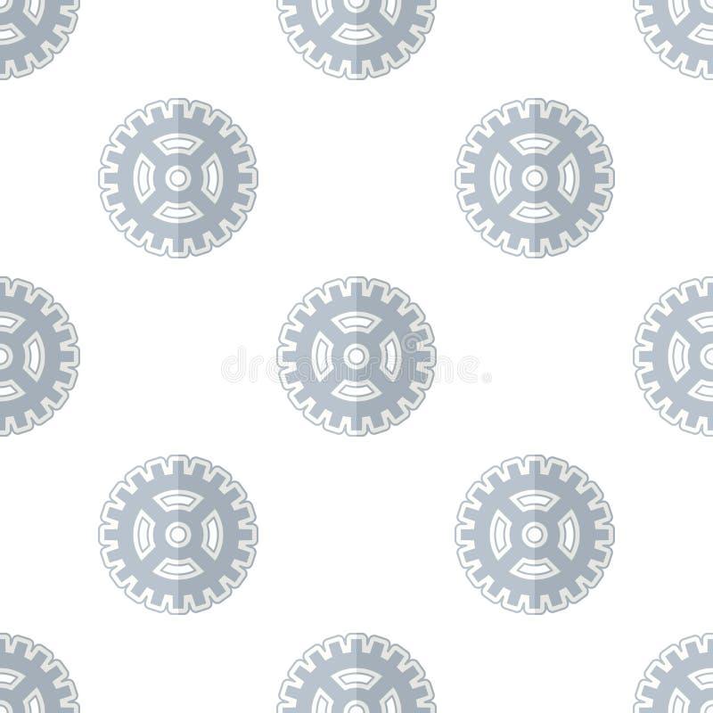Teste padrão sem emenda do ícone abstrato da roda de engrenagem ilustração stock
