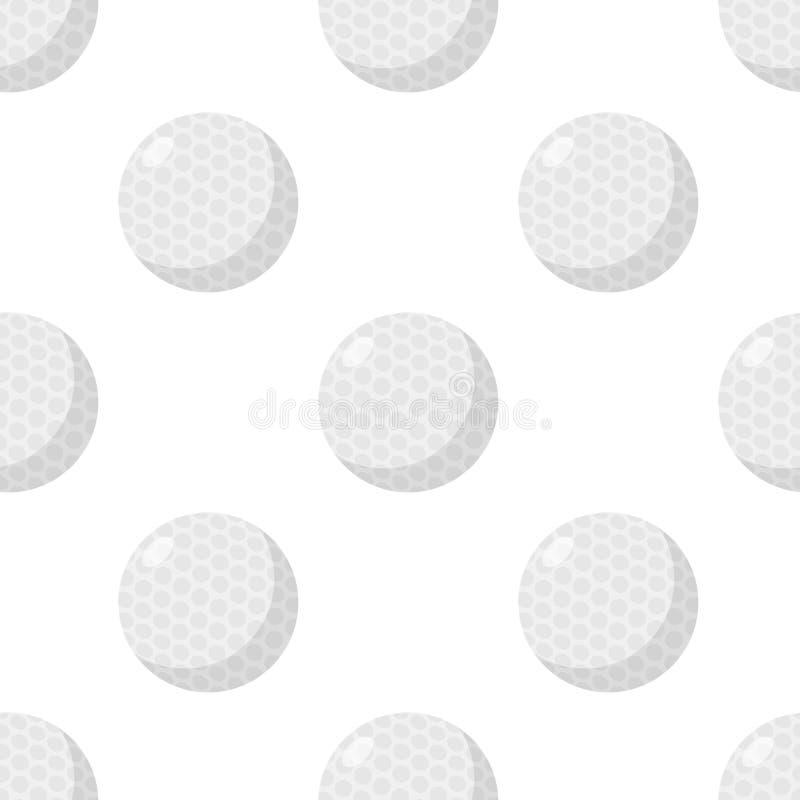 Teste padrão sem emenda do ícone liso da bola de golfe ilustração stock