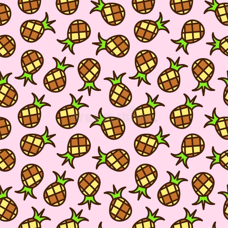 Teste padrão sem emenda do abacaxi ilustração stock