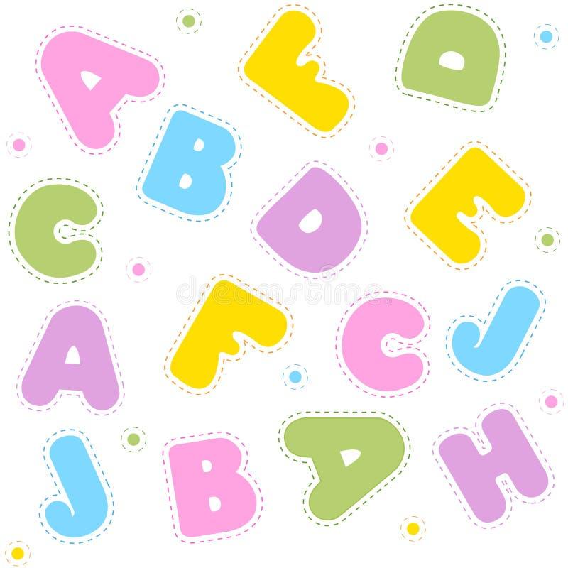Teste padrão sem emenda do alfabeto ilustração do vetor