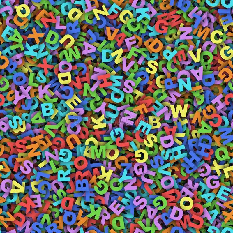 Teste padrão sem emenda do alfabeto inglês fotos de stock royalty free