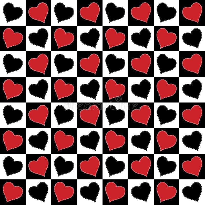 Teste padrão sem emenda do amor. ilustração do vetor