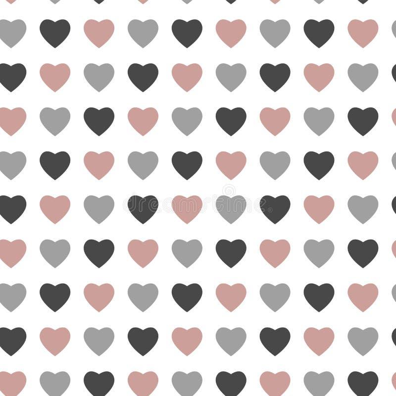 Teste padrão sem emenda do amor abstrato para o projeto do dia de Valentim do St ilustração royalty free