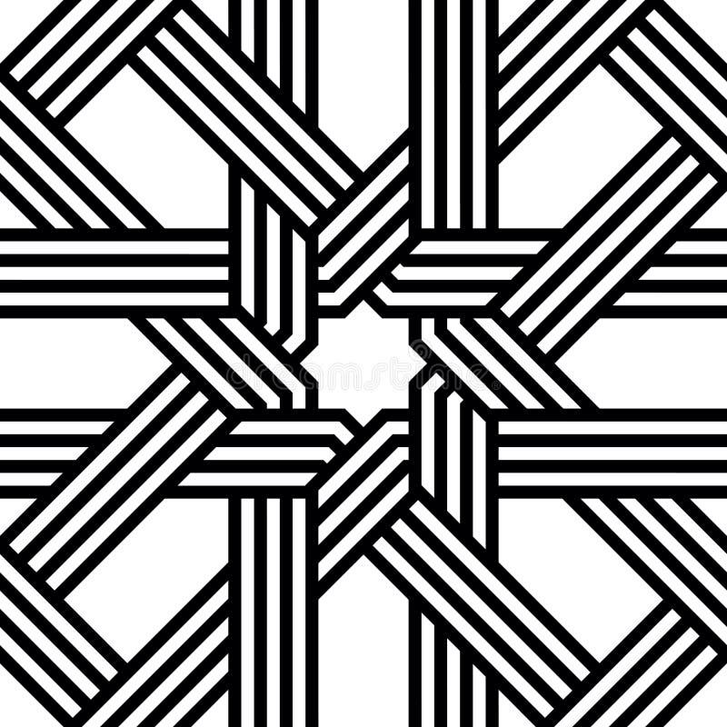 Teste padrão sem emenda do Arabesque do vetor ilustração royalty free