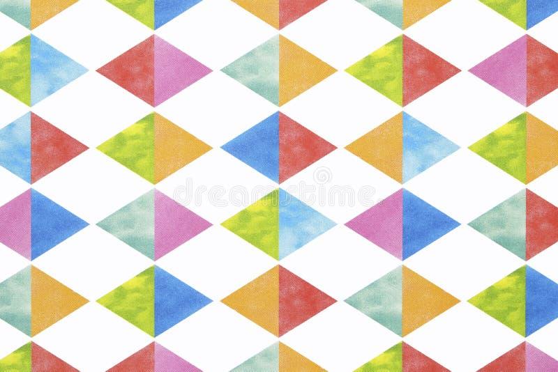 Teste padrão sem emenda do argyle colorido foto de stock