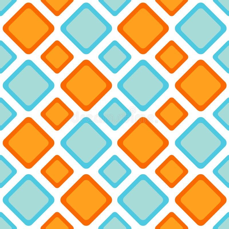 Teste padrão sem emenda do backgound dos diamantes do ziguezague ilustração do vetor