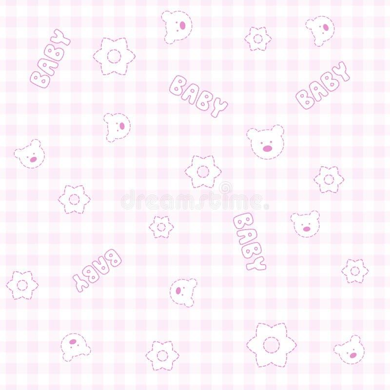 Teste padrão sem emenda do bebê ilustração stock