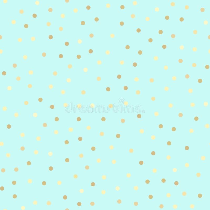 Teste padrão sem emenda do brilho dourado, fundo da hortelã ilustração do vetor