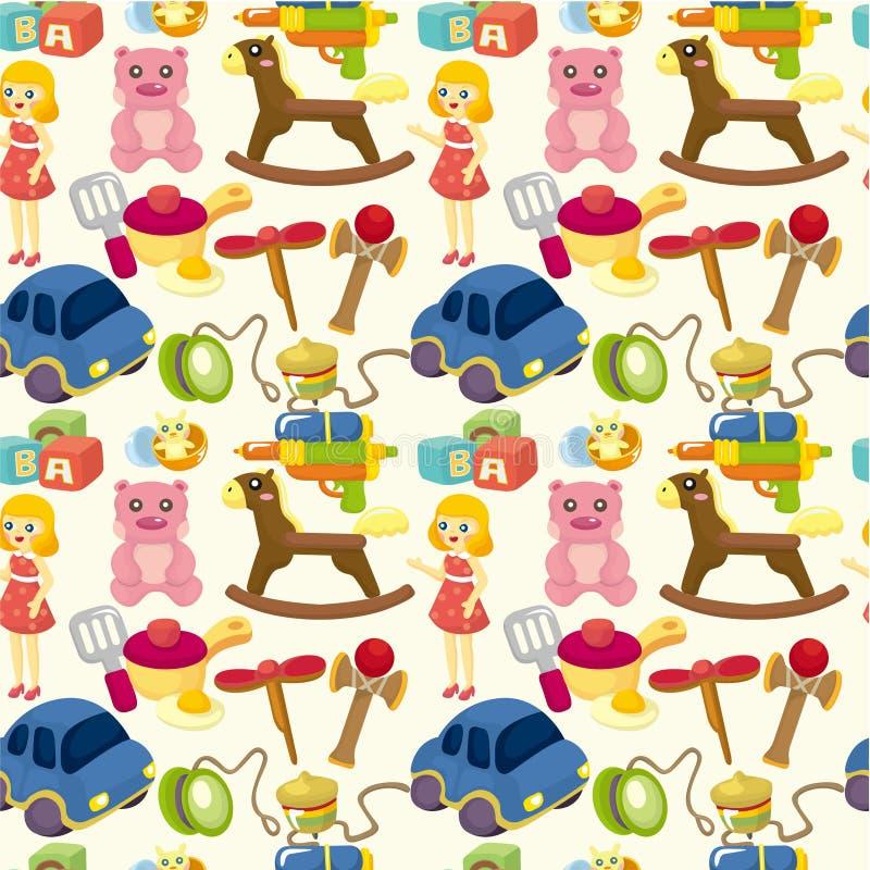 Teste padrão sem emenda do brinquedo da criança dos desenhos animados ilustração do vetor