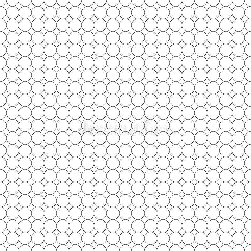 Teste padrão sem emenda do círculo ilustração do vetor