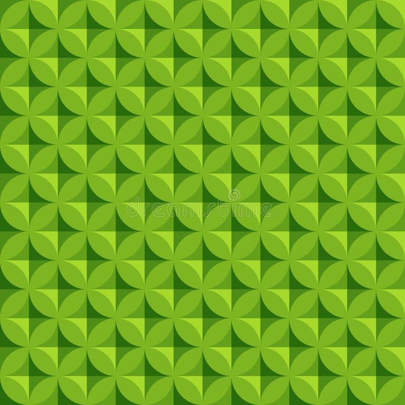 Teste padrão sem emenda do círculo abstrato do vintage com elementos geométricos e abstratos decorativos Fundo do vetor ilustração do vetor