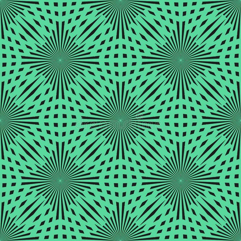 Teste padrão sem emenda do círculo do verde do vetor textura à moda moderna Repetindo o fundo abstrato EPS10 ilustração royalty free