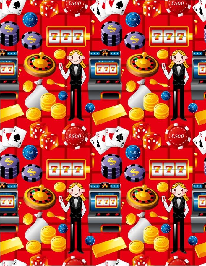 Teste padrão sem emenda do casino ilustração royalty free