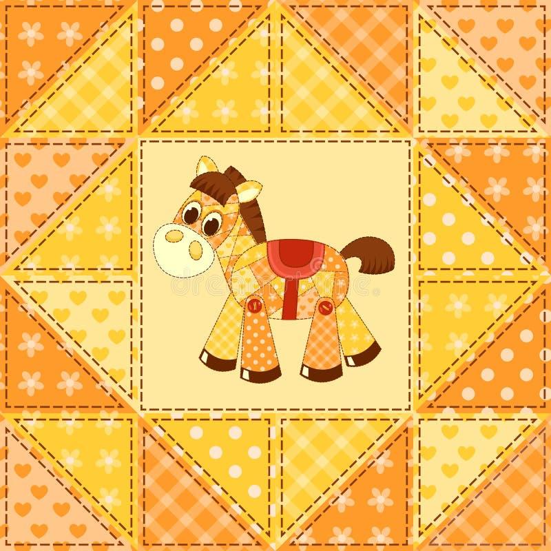Teste padrão sem emenda do cavalo da aplicação ilustração do vetor