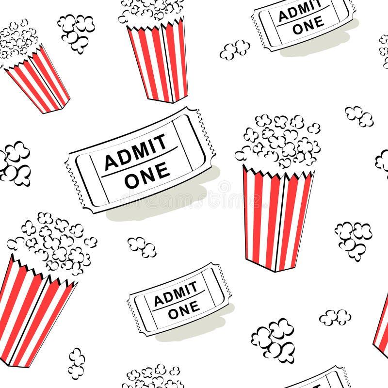 Teste padrão sem emenda do cinema ilustração stock