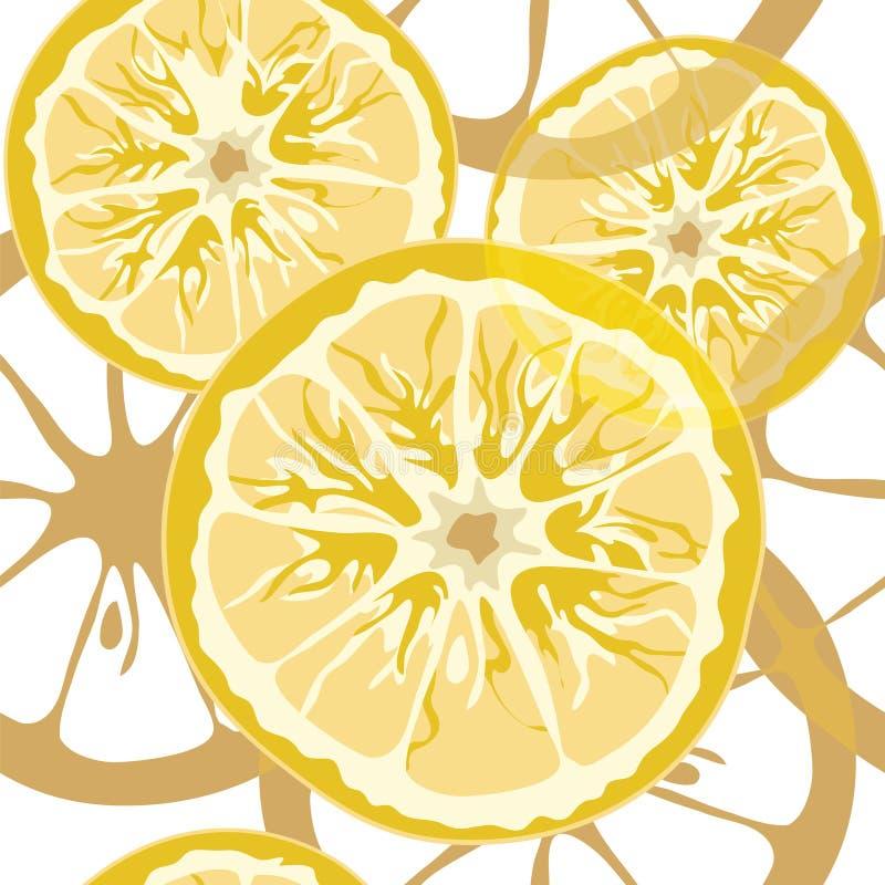 Teste padrão sem emenda do citrino ilustração stock
