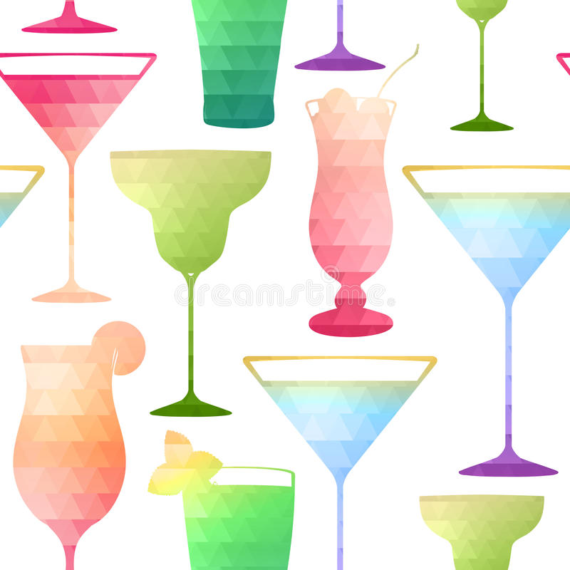 Teste padrão sem emenda do cocktail ilustração do vetor