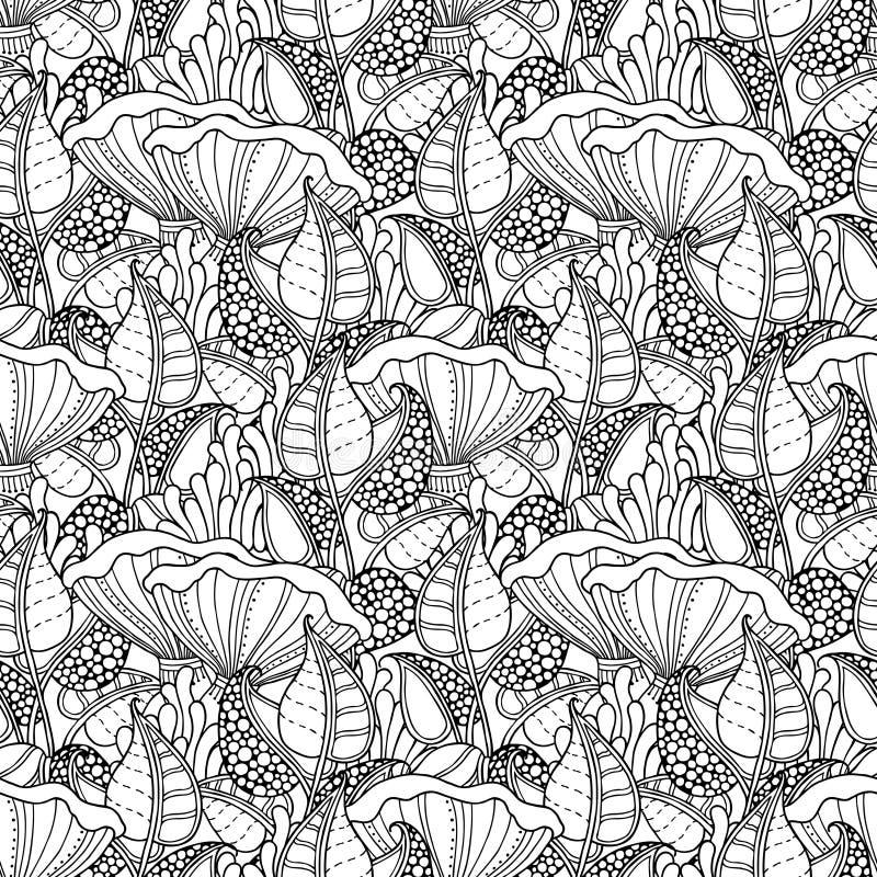 Teste padrão sem emenda do cogumelo ilustração royalty free