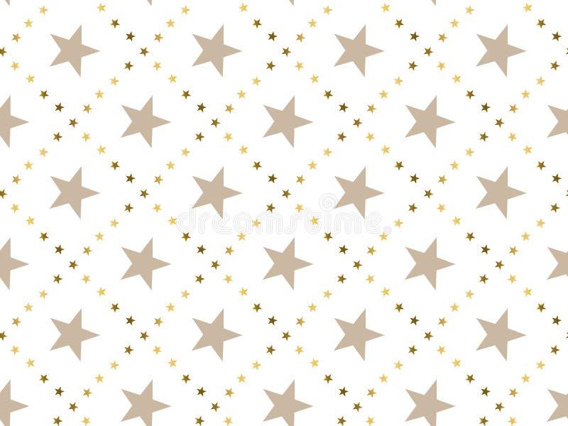 Teste padrão sem emenda do conceito abstrato luxuoso da estrela ilustração do vetor