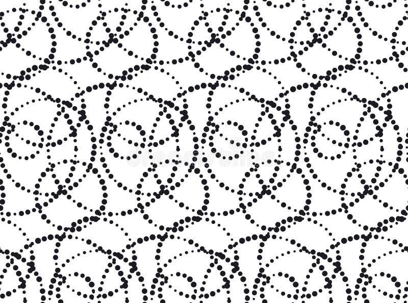 teste padrão sem emenda do conceito de tinta preta minimalistic ilustração royalty free