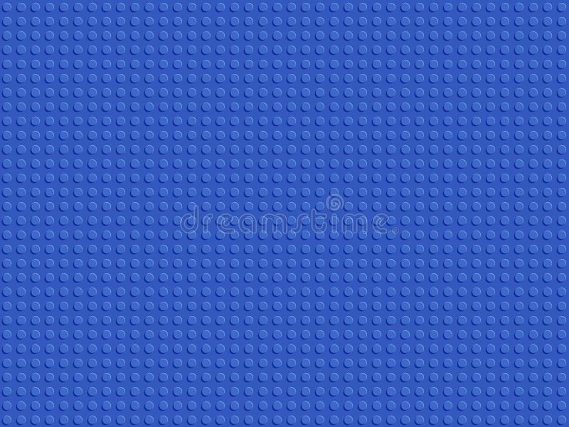 Teste padrão sem emenda do construtor plástico azul Os blocos abstratos do fundo chapeiam o projeto liso ilustração do vetor