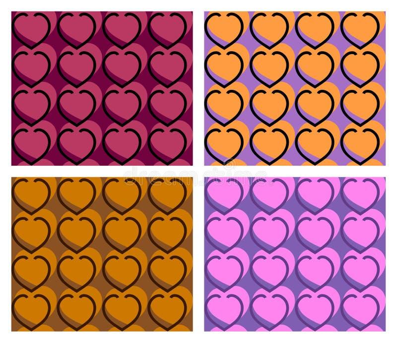 Teste padrão sem emenda do coração fotografia de stock