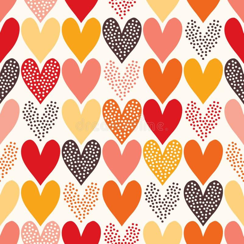 Teste padrão sem emenda do coração ilustração stock