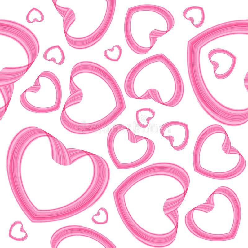 Teste padrão sem emenda do coração no fundo branco ilustração do vetor
