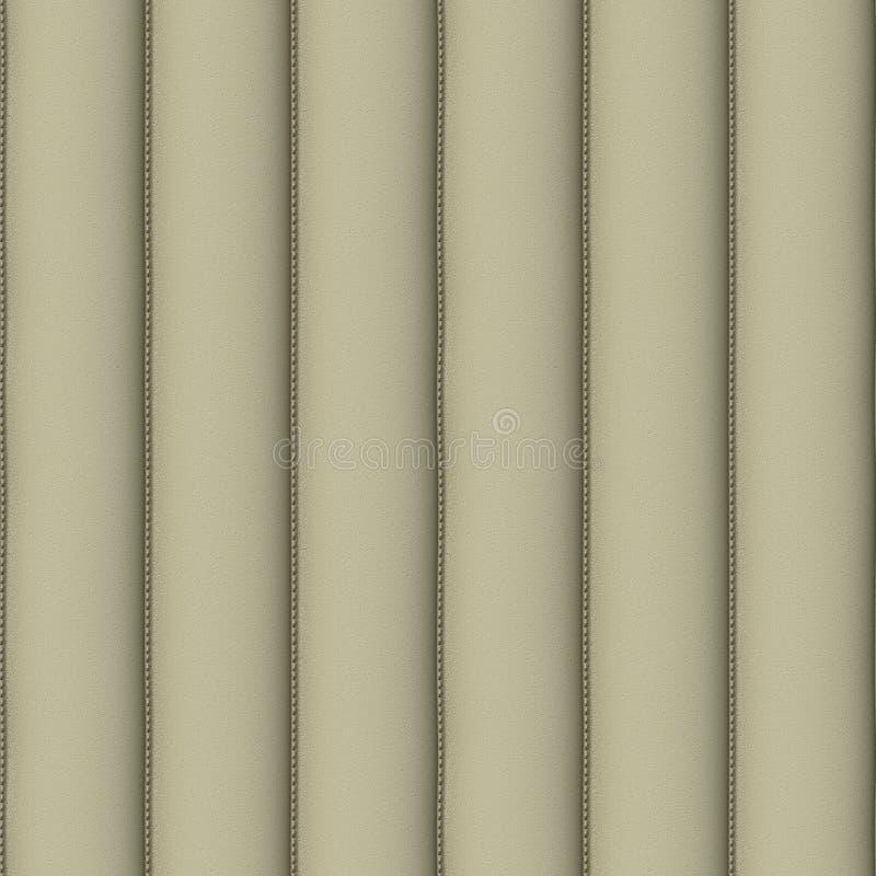 Teste padrão sem emenda do couro de creme de Upholstery ilustração do vetor