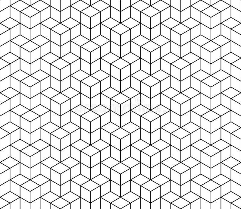 Teste padrão sem emenda do cubo geométrico abstrato Fundo minimalistic simples do projeto gráfico, ornamento da tela Vetor ilustração royalty free