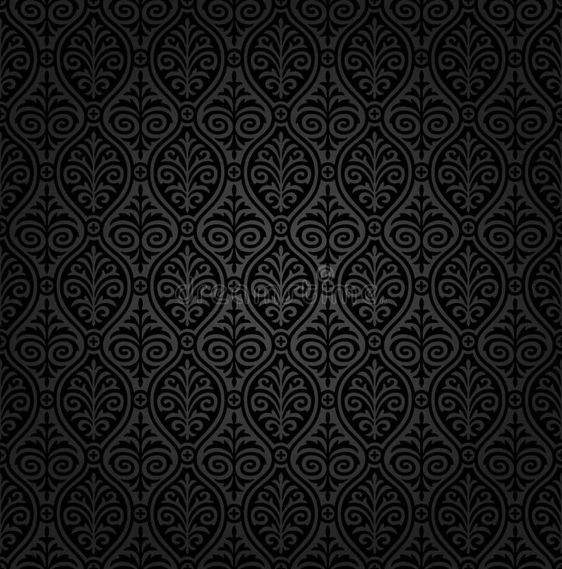 Teste padrão sem emenda do damasco foto de stock royalty free