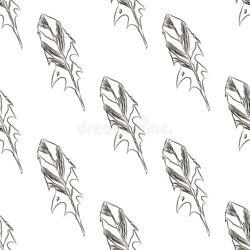 Teste padrão sem emenda do dente-de-leão ilustração stock