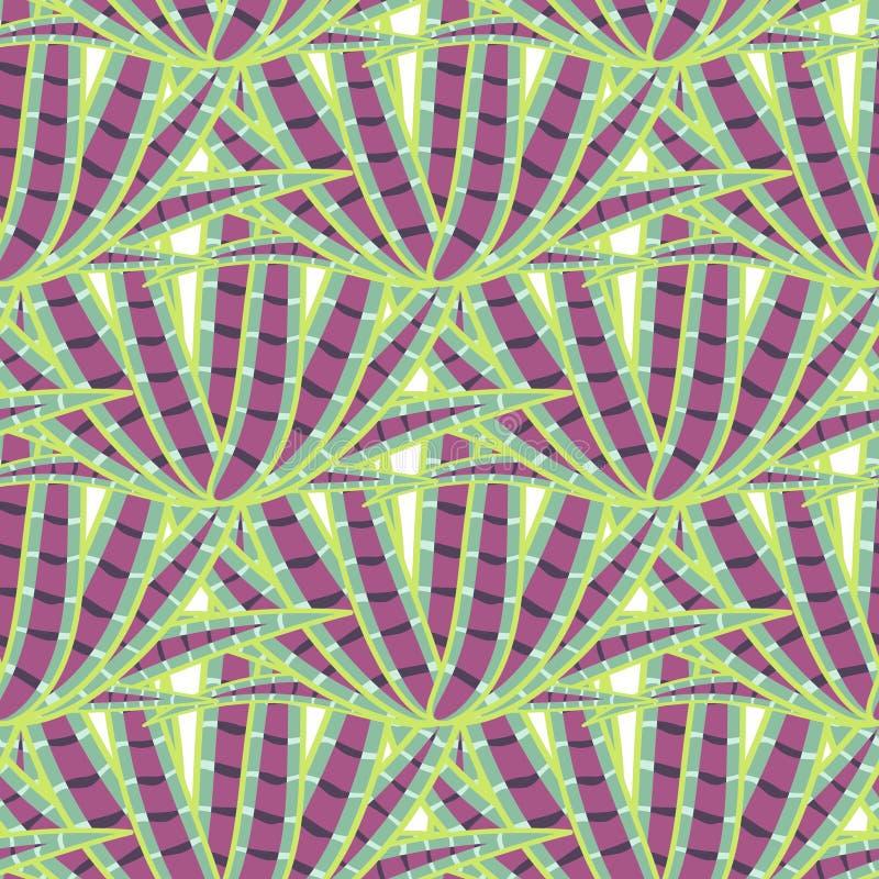 Teste padrão sem emenda do deserto suculento da agave ilustração stock