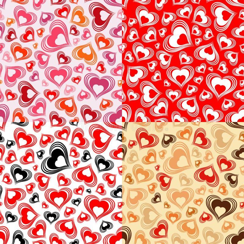 Teste padrão sem emenda do dia dos Valentim ilustração royalty free