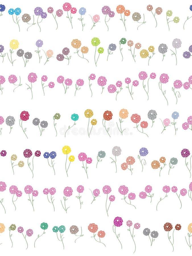 Teste padrão sem emenda do divisor das flores ilustração stock